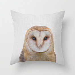Owl - Colorful Throw Pillow