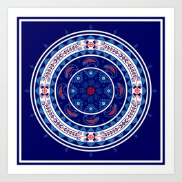 Bear Spirit (Blue) Art Print