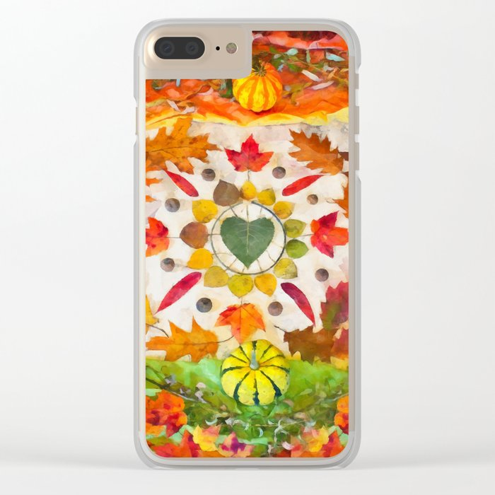 Autumn mandala Clear iPhone Case