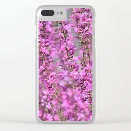 Pink Floral home decor Clear iPhone Case