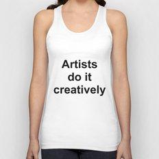 Artists Do It Creatively Unisex Tank Top