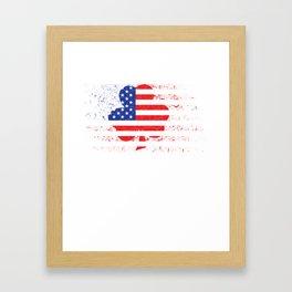 Irish American Flag Framed Art Print