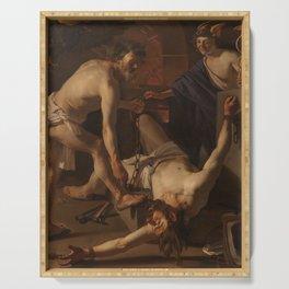 A 1623 oil on canvas painting by Dirck van Baburen Serving Tray