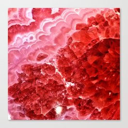 Macro Red Agate Canvas Print