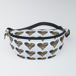 cute kitten in a heart 2-  Leon Huber - A basket full of cat Fanny Pack