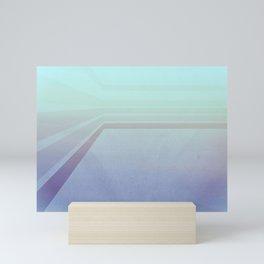 Horizontal flight (Blue edition) Mini Art Print