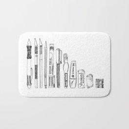 Pencil Case 2 - Artschool Bath Mat