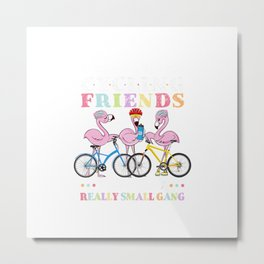 We're More Than Just Cycling Friends We're Like A Small Gang T-Shirt Metal Print