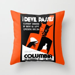 The Devil Passes Throw Pillow