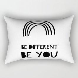 Be Different, Be You Rectangular Pillow