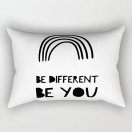 Be Different, Be You Rectangular Pillow