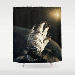 floating in the abyss Shower Curtain