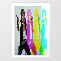 han solo Art Prints featuring Han Solo by Iotara