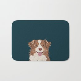 Hollis - Australian Shepherd gifts for dog owners pet lovers dog people gifts for dog person Bath Mat