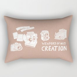 Weapons Of Mass Creation - Photography (white) Rectangular Pillow