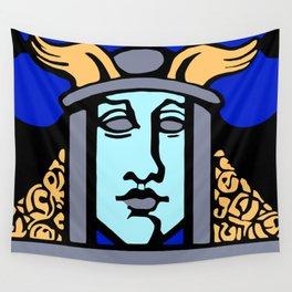Jugendstil Einfuhrmesse Frankfurt blue Wall Tapestry