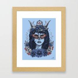 Freyja (Blue Variant) Framed Art Print