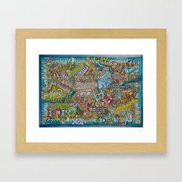 Borrego in many languages Framed Art Print