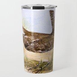Wren Woodland Bird Nature Art Travel Mug