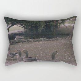 Ducks in the park Rectangular Pillow
