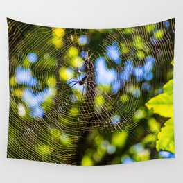 Spider In A Web Wall Tapestry
