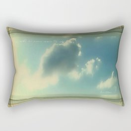 She Wrote His Name Across The Sky Rectangular Pillow