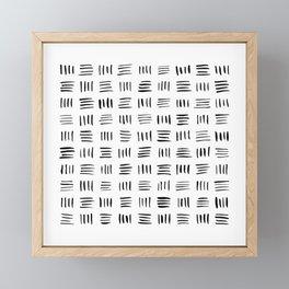 Lines on Lines Framed Mini Art Print