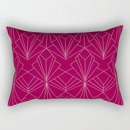 Art Deco in Raspberry Pink Rectangular Pillow