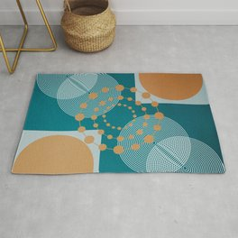 Law Of Attraction - Abstract Geometric Circles Rug