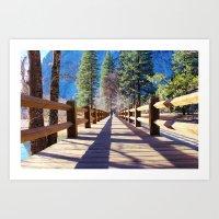 bridge Art Prints featuring Bridge by Liveart4evr