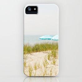 Blue Beach Umbrellas iPhone Case