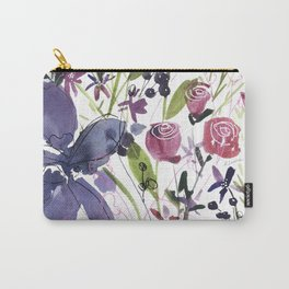 Purple and Red Flowers of July Carry-All Pouch