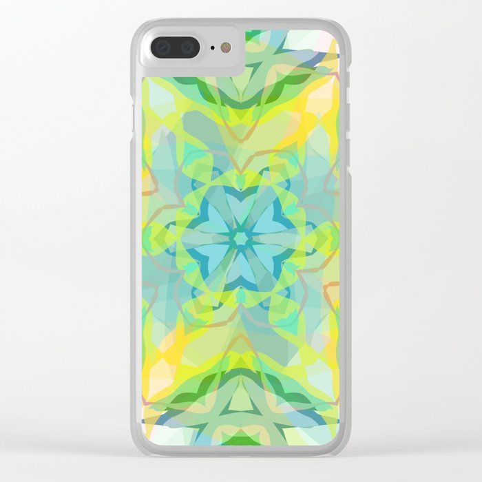 A colorful kaleidoscope 3 Clear iPhone Case