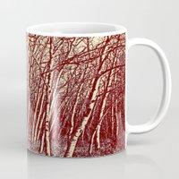 birch Mugs featuring Birch by Indigo Rayz