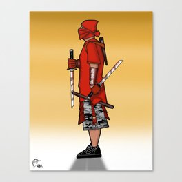 Street Samurai Series - Red Sun Canvas Print
