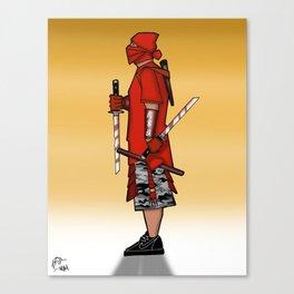 Street Samurai Series - Red Sun Canvas Print