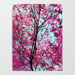 Autumn Pink Poster