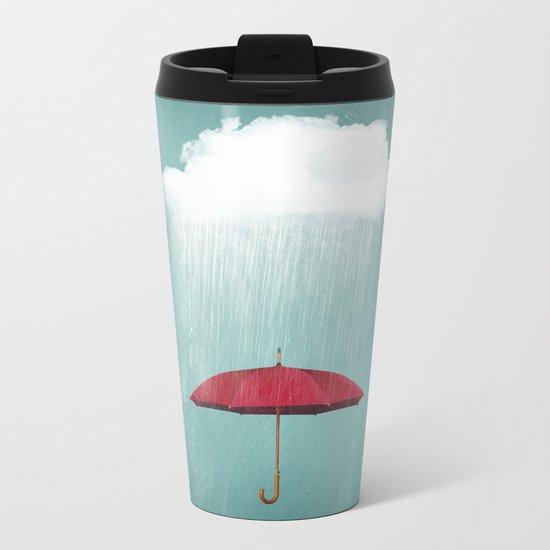 WHITE RAIN Metal Travel Mug
