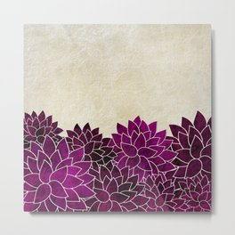 Abstract Floral 4 Metal Print