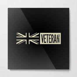 British Military: Veteran (Black Flag) Metal Print