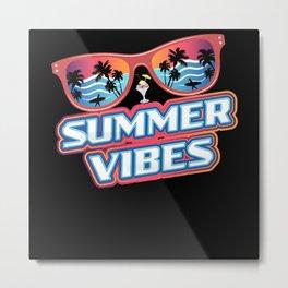 Colorful Sunglasses Summer Vibes Metal Print