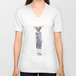 Chelsea the Chihuhua Unisex V-Neck