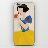 snow white iPhone & iPod Skins featuring Snow White by magicblood