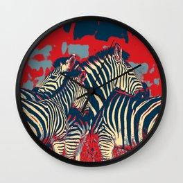 American Zebra Wall Clock