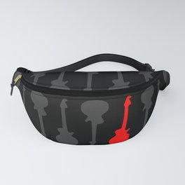 Black, Grey and Red Guitars Fanny Pack