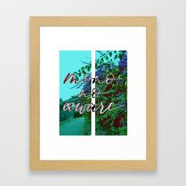 MONO NO AWARE Framed Art Print