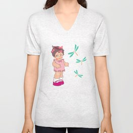 little miss asabi boo Unisex V-Neck