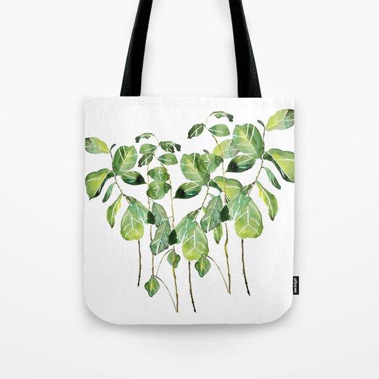 Fig tree watercolor  Tote Bag