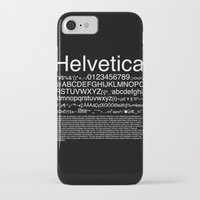 helvetica iPhone & iPod Cases featuring Helvetica (White) by Zuno