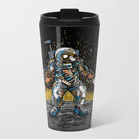 Texas Chainsaw Astronaut Metal Travel Mug